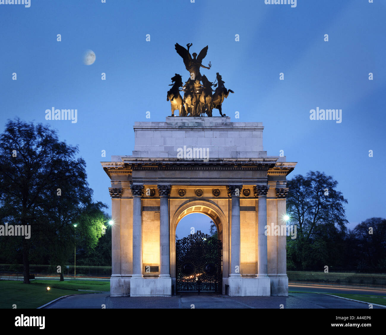 GB - LONDON: Wellington Arch at Hyde Park - Stock Image