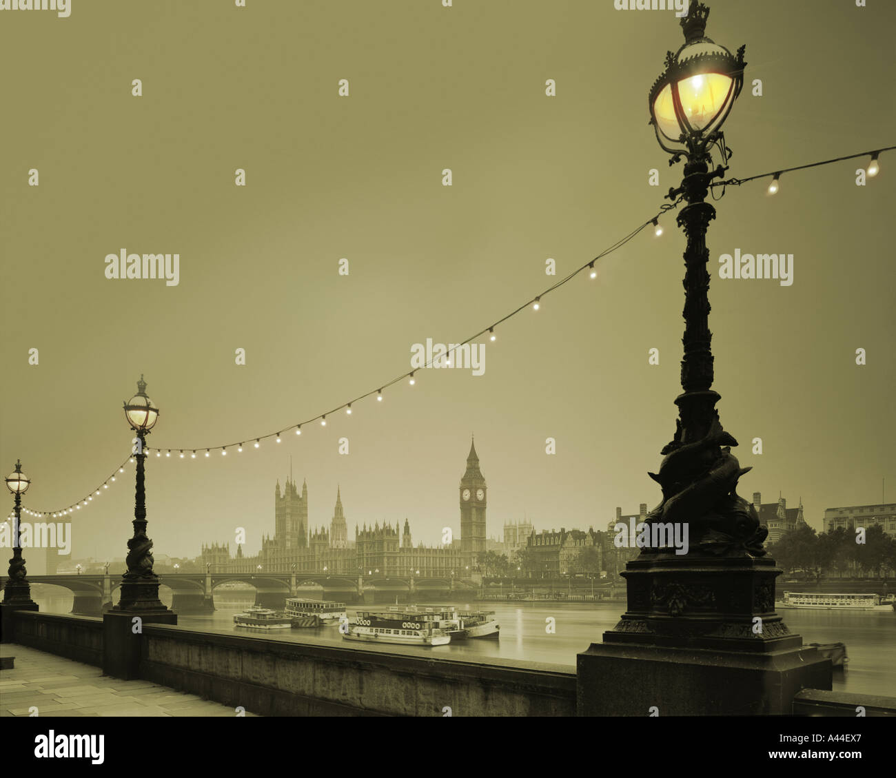 GB - LONDON:  Westminster and River Thames - Stock Image