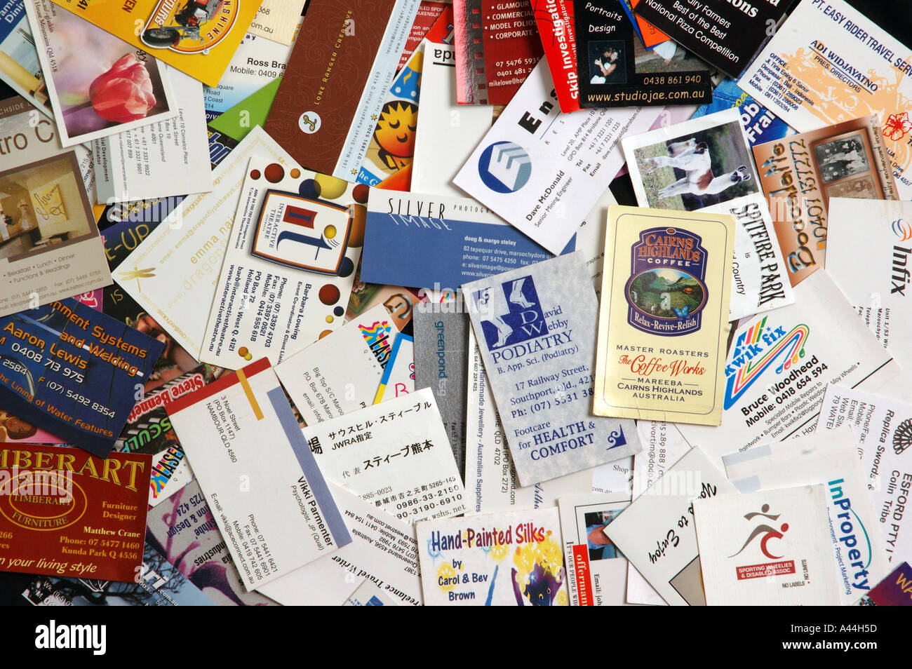 pile of mixed business cards dsca 2041 Stock Photo: 3567964 - Alamy