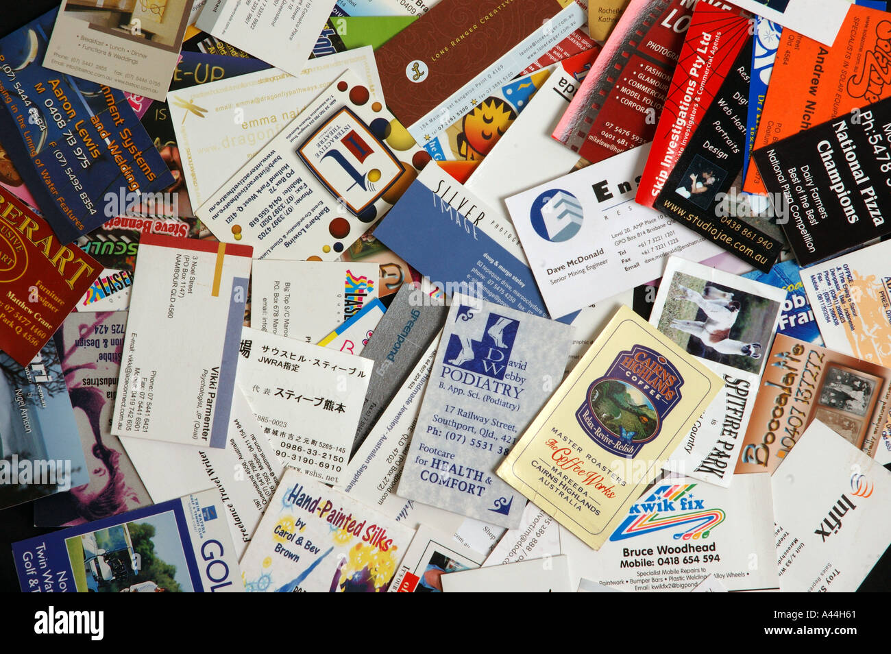 pile of mixed business cards dsca 2042 Stock Photo: 3567968 - Alamy