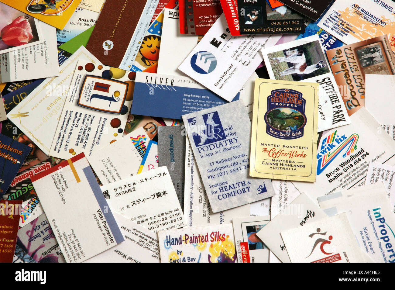 pile of mixed business cards dsca 2044 Stock Photo: 3567972 - Alamy