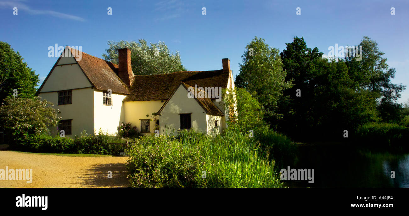 Willy Lotts Cottage,Flatford,Suffolk, UK Stock Photo