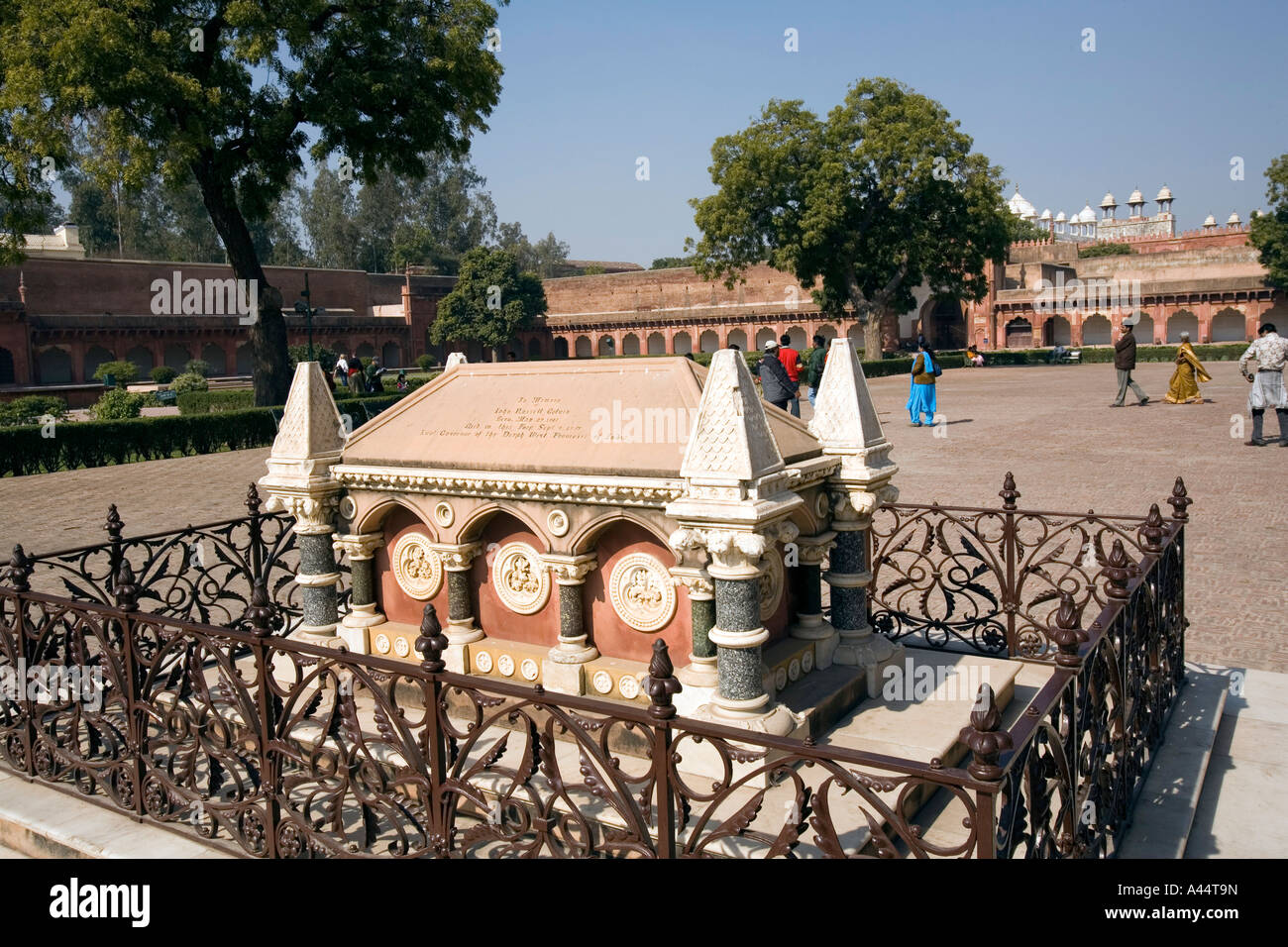 India Uttar Pradesh Agra Fort British colonial tomb of John Colvin - Stock Image