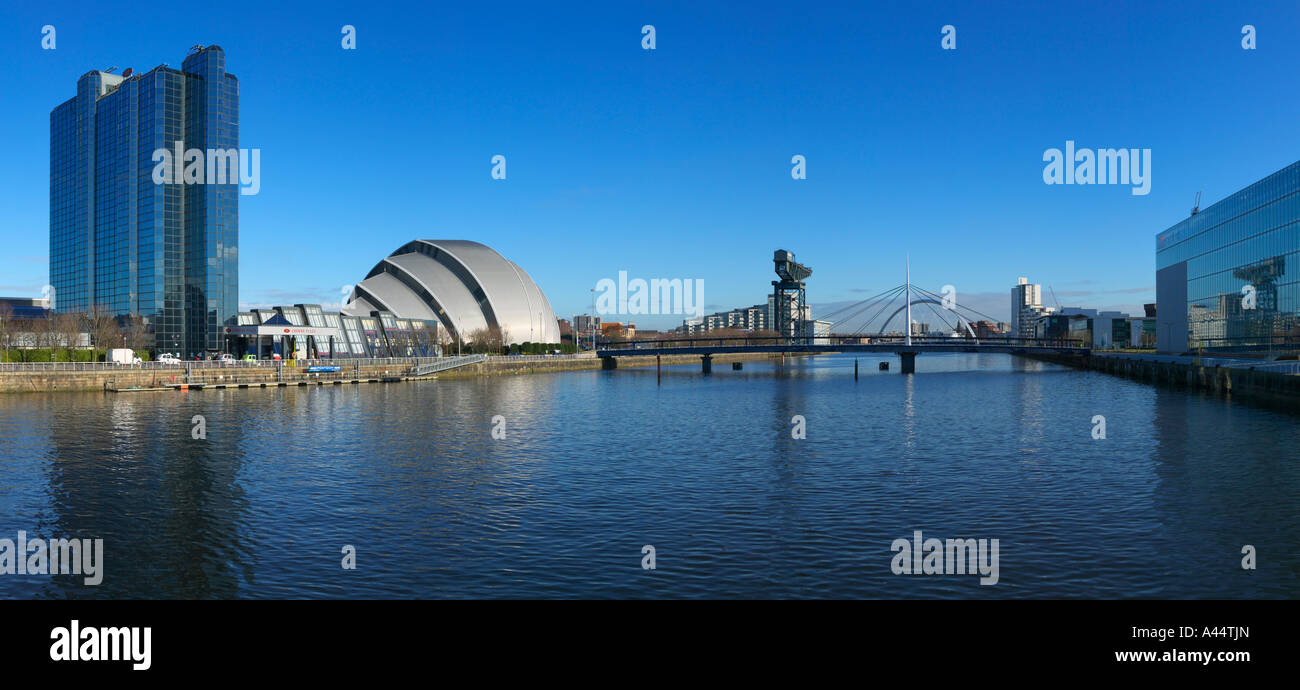 View along the River Clyde Glasgow Scotland - Stock Image