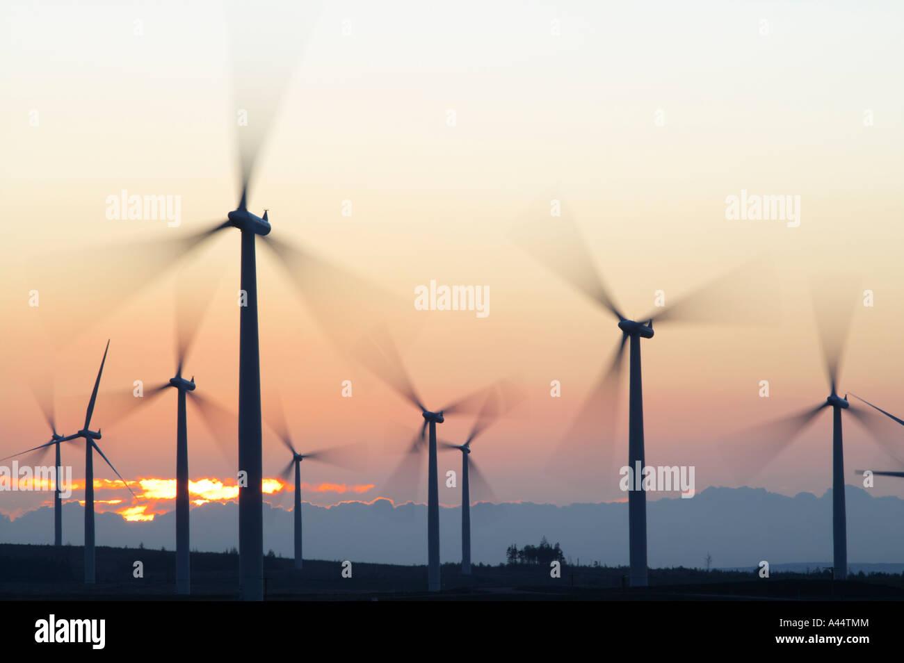 Black Law Wind Farm near Forth, South Lanarkshire, Scotland, UK - Stock Image