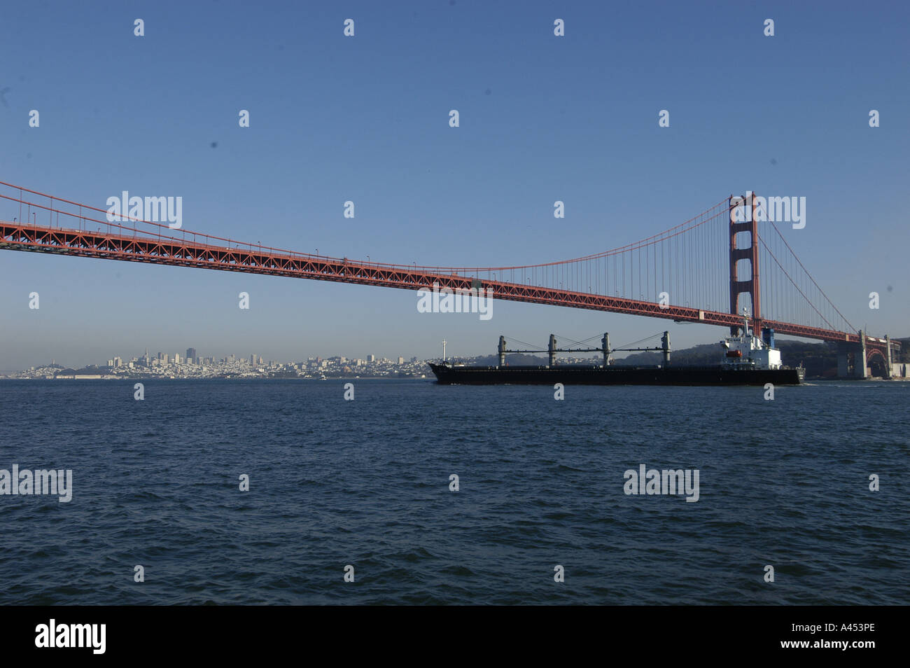 Transatlantic Bridge >> Cargo Vessel Crossing Under The Golden Gate Bridge San Francisco Bay