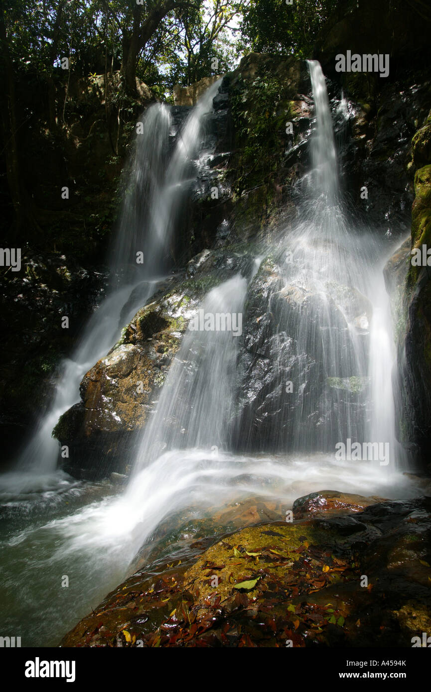 Chorro las Yayas waterfalls, near El Cope in the Cocle province, Republic of Panama. - Stock Image