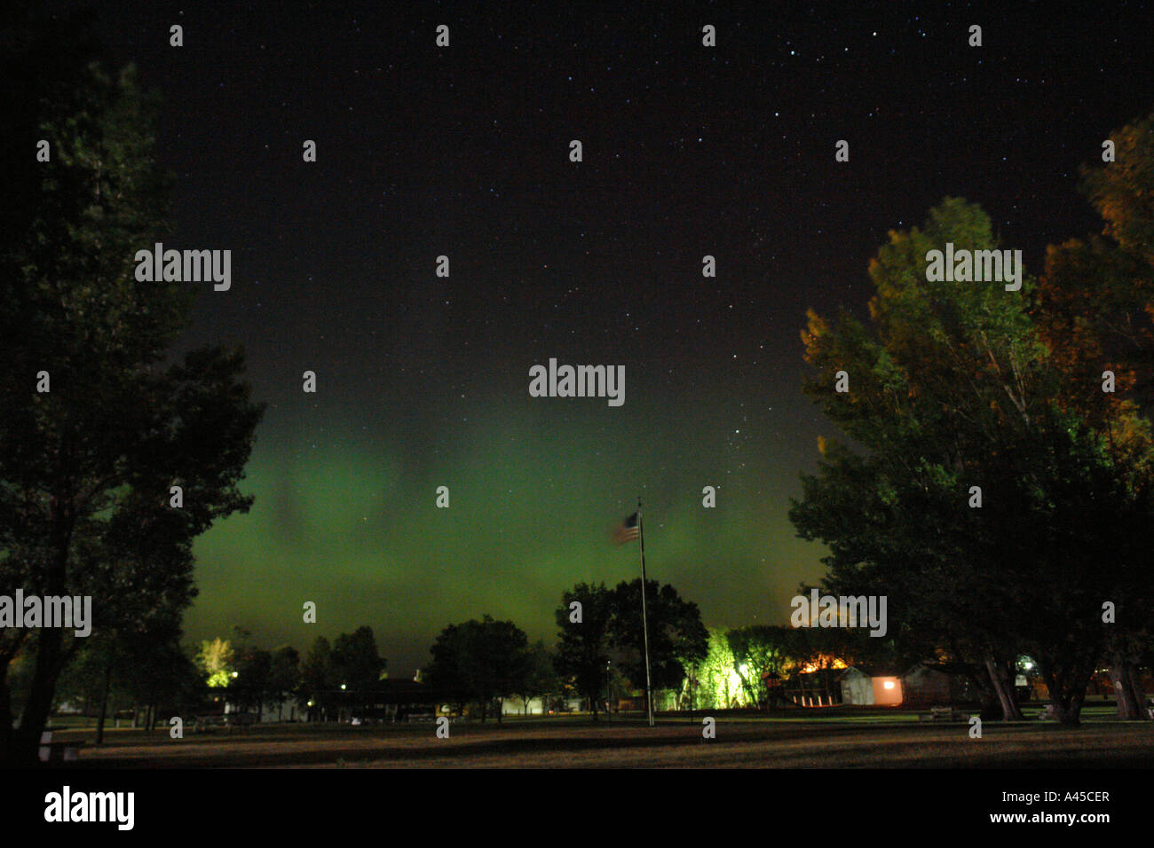 AJD57372, Medina, ND, North Dakota, Northern Lights, Aurora Borealis - Stock Image