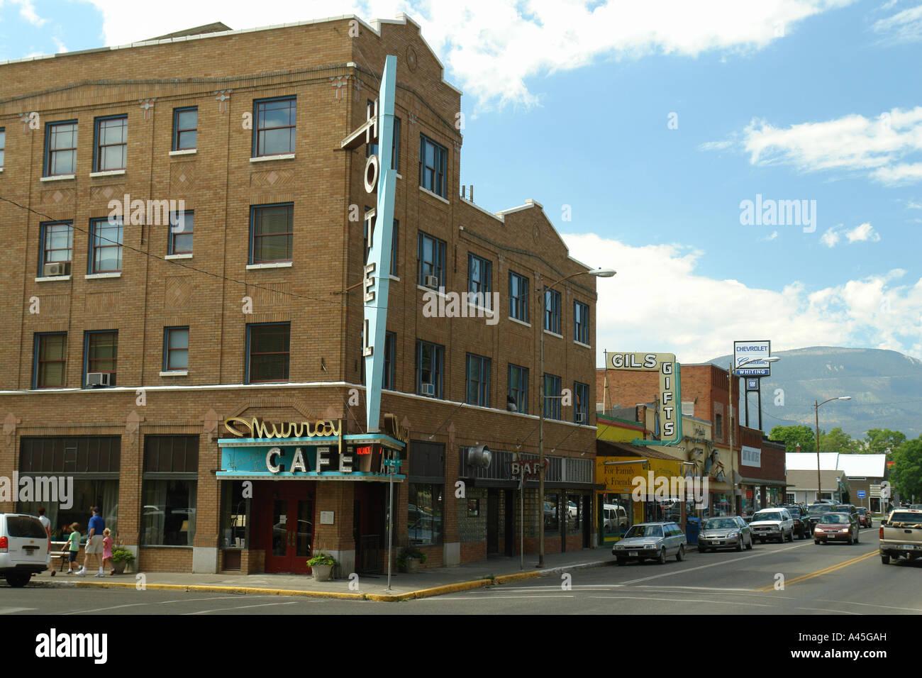 AJD57069, Livingston, MT, Montana, downtown - Stock Image