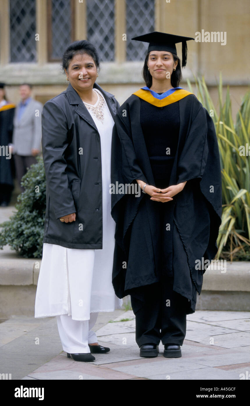 a0a7be3f7ba mother with daughter at after graduation ceremony at de montfort university  bedford 1999