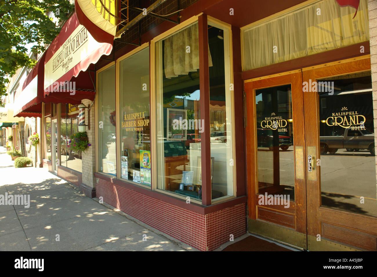 AJD56538, Kalispell, MT, Montana, Historic Downtown, Grand Hotel - Stock Image