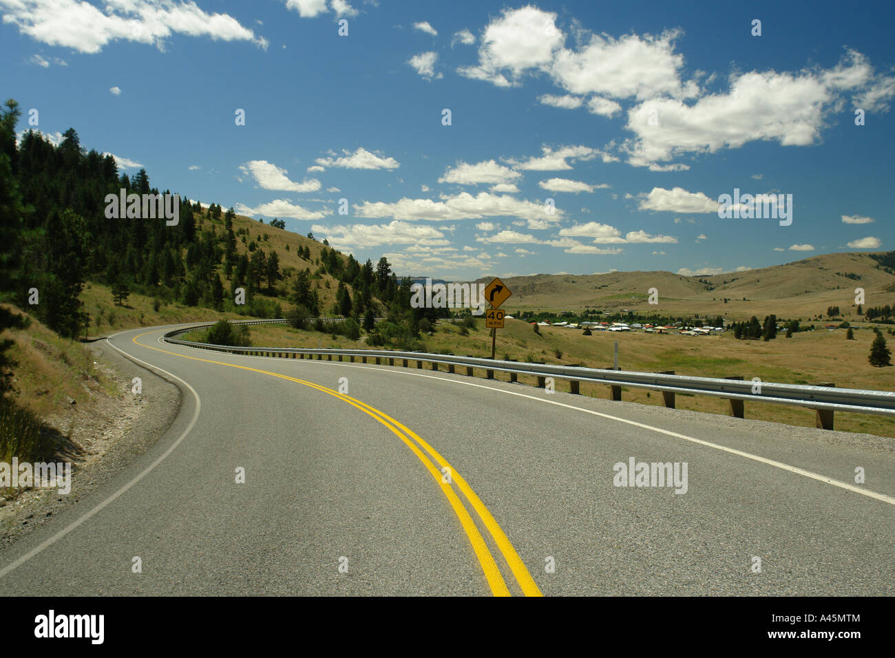 AJD55848, Colville Indian Reservation, WA, Washington, Route 155, Columbia River - Stock Image