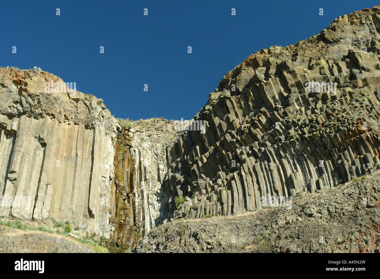 AJD55908, Grand Coulee Valley, WA, Washington, Banks Lake, Route 155 - Stock Image