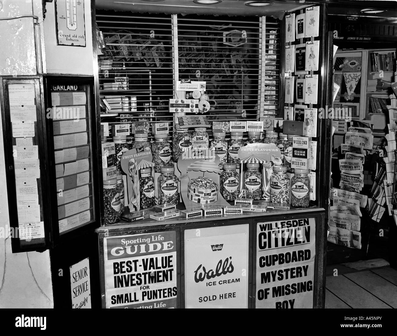 Willesden Shop Circa 1960 - Stock Image