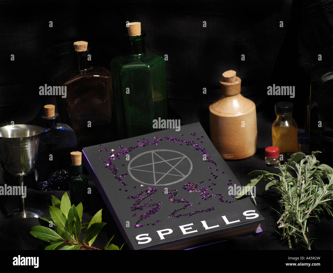 Spell Book Wicca Book of Shadows Stock Photo: 10942992 - Alamy