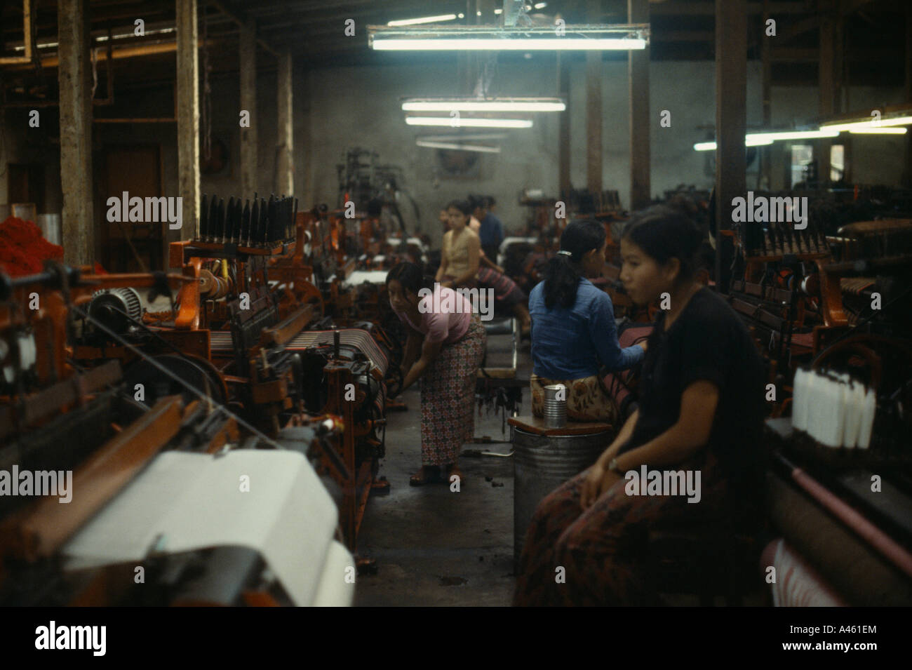 LAOS Southeast Asia Industry Clothing Female labour in sweatshop textile factory - Stock Image
