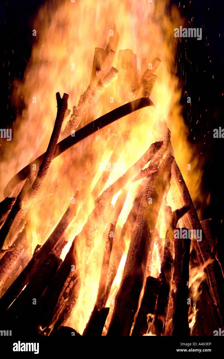 A bonfire - Stock Image