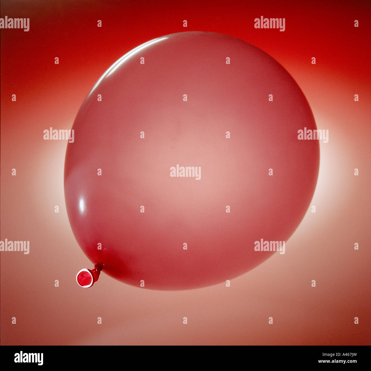 A red baloon - Stock Image