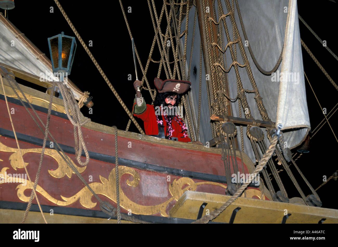 Disney World Magic Kingdom Pirates of Caribbean - Stock Image