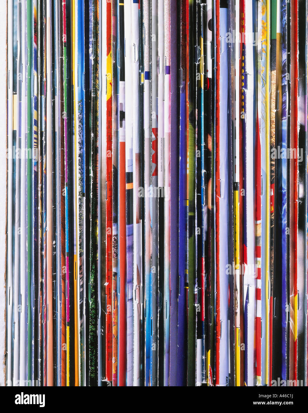 A pile of magazines - Stock Image