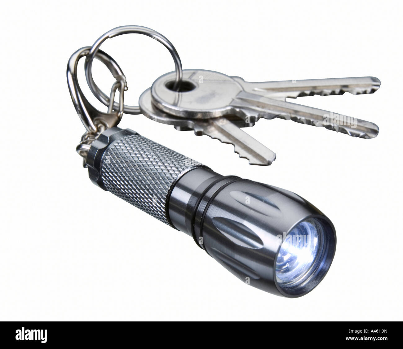 Keychain with a flashlight - Stock Image
