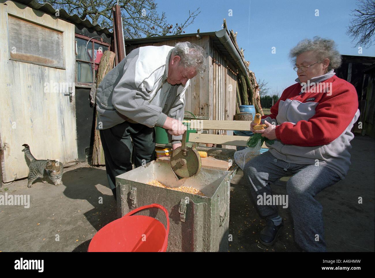 Elderly countryside dwellers - Stock Image