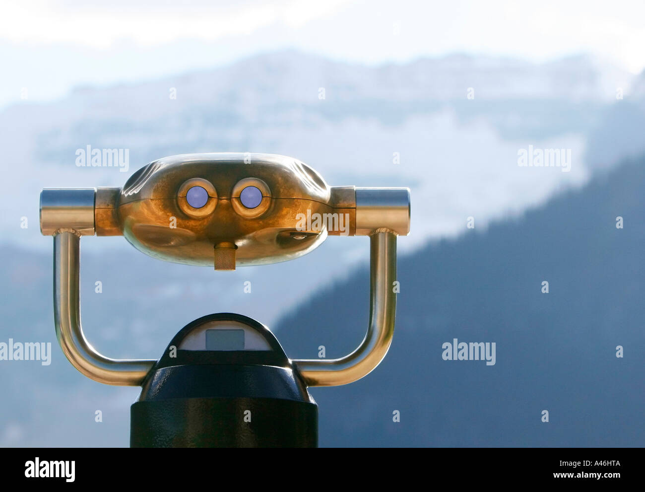 Binoculars for a closer view - Stock Image