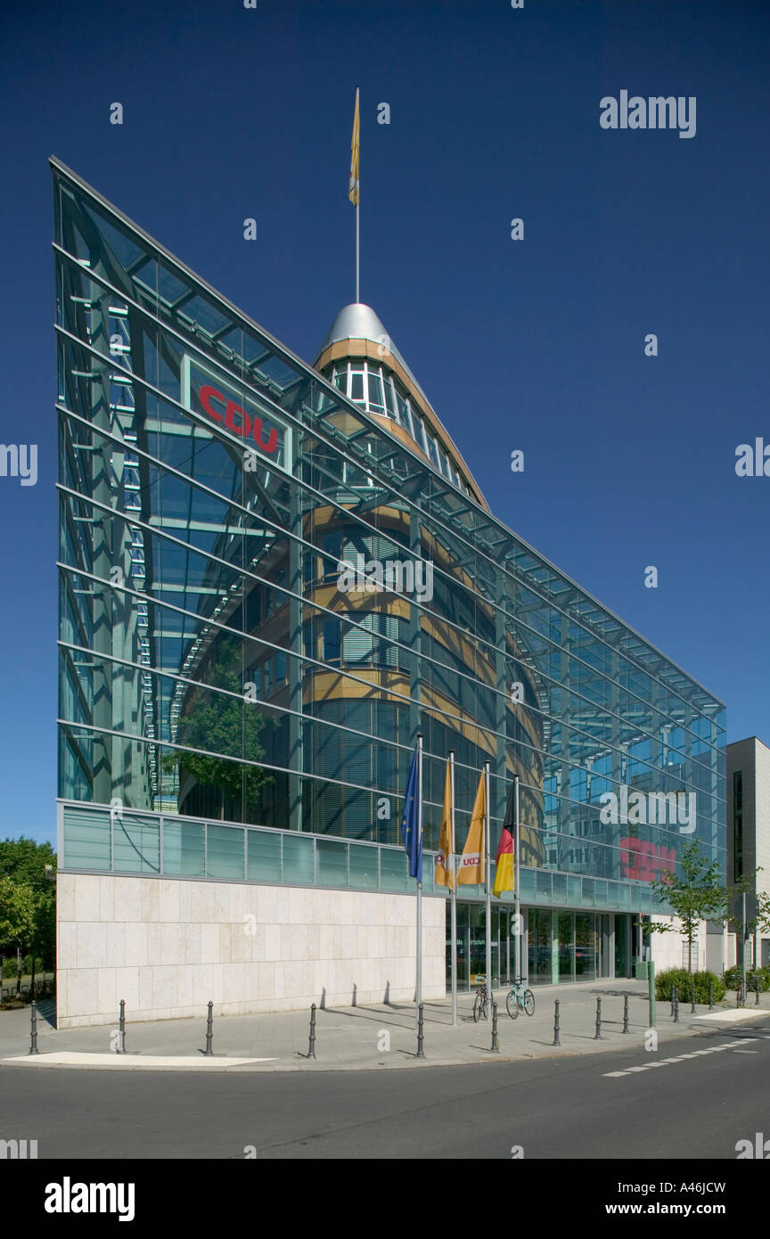 Party Headquarters of the Christian Democratic Union, Berlin, Germany - Stock Image