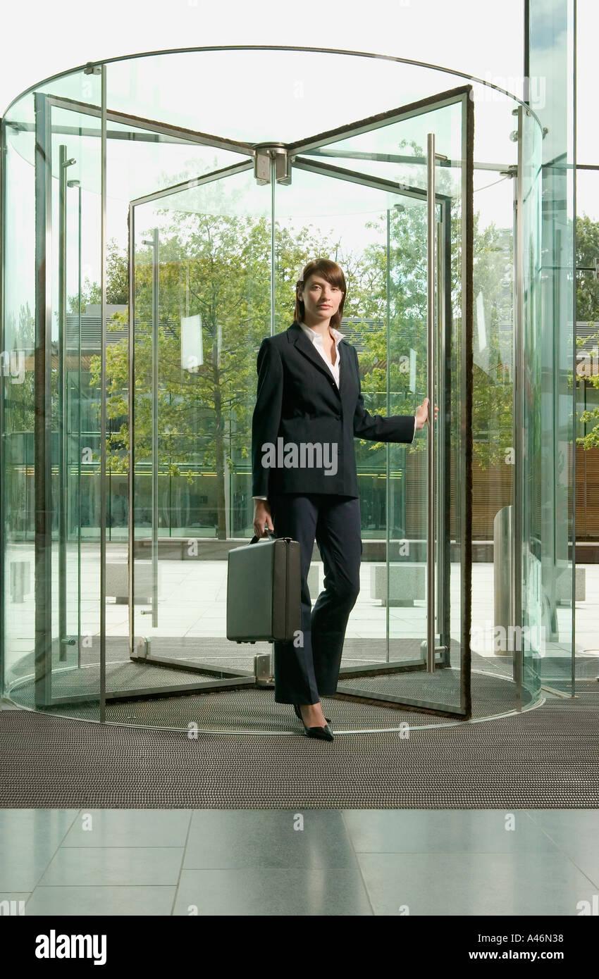 Revolving Glass Door Stock Photos Revolving Glass Door Stock