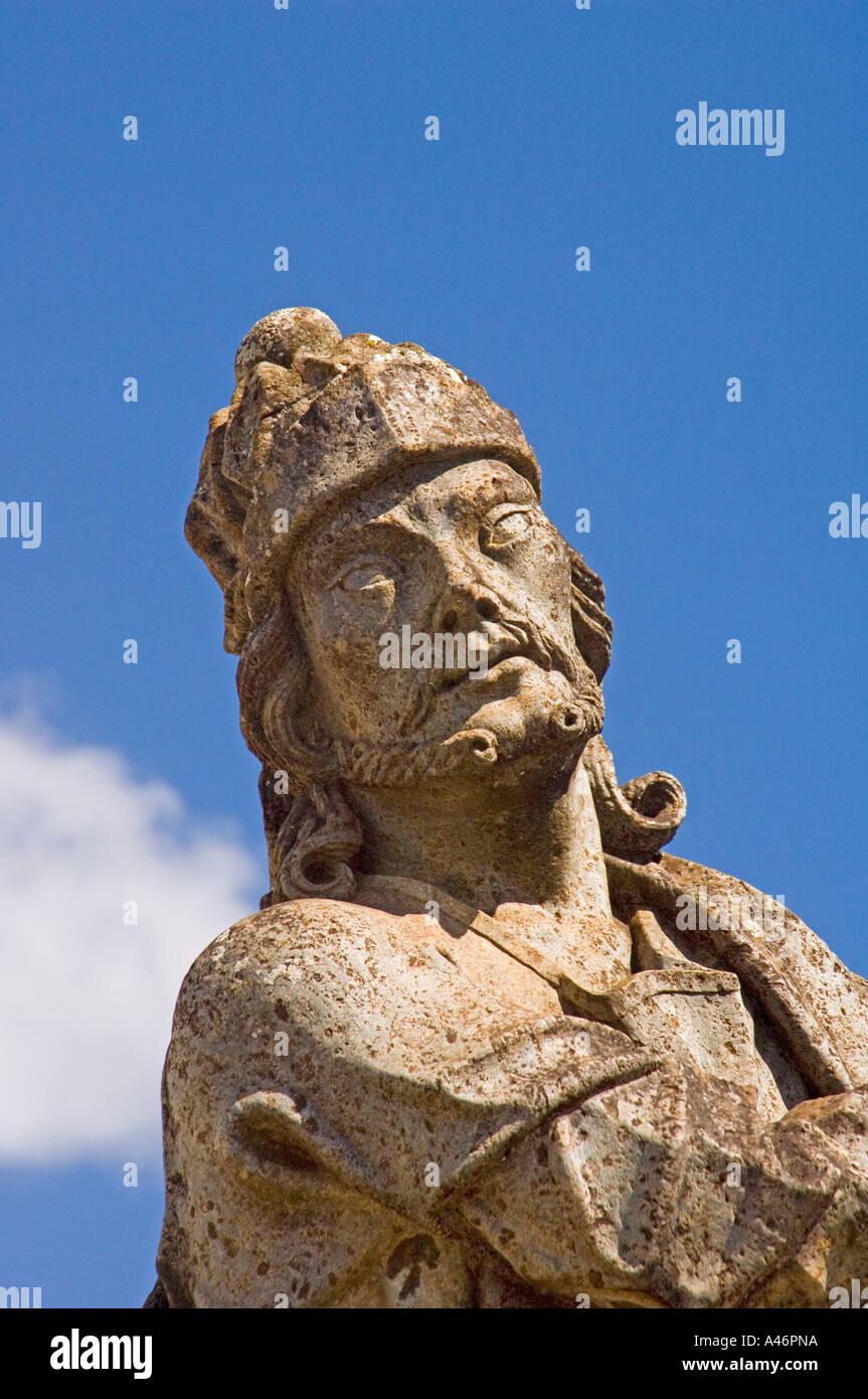 Statue of Prophet Ezekiel Congonhas - Stock Image