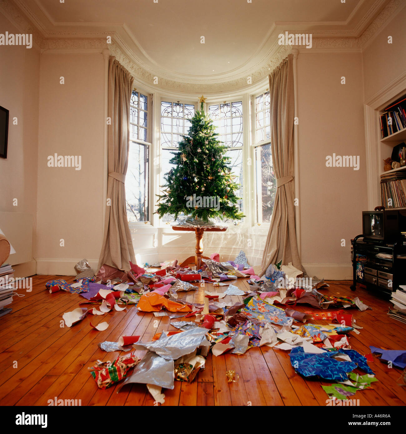 Messy Room: Messy Living Room At Christmas Stock Photo: 3575657