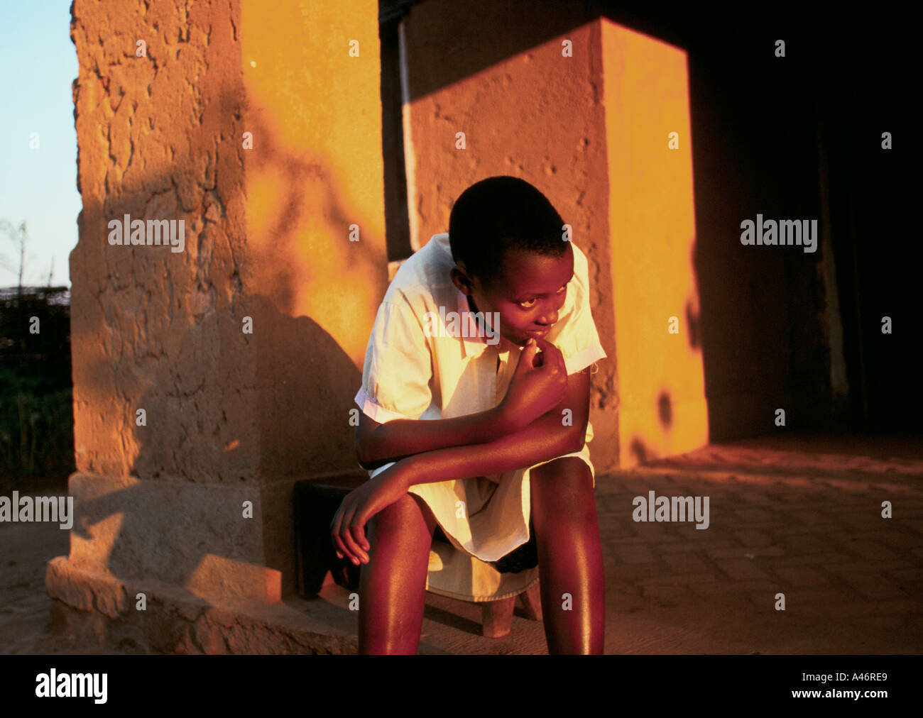 fecility is 14 years old both her parents were killed in the genocide Shalom House ruyigi burundi Stock Photo