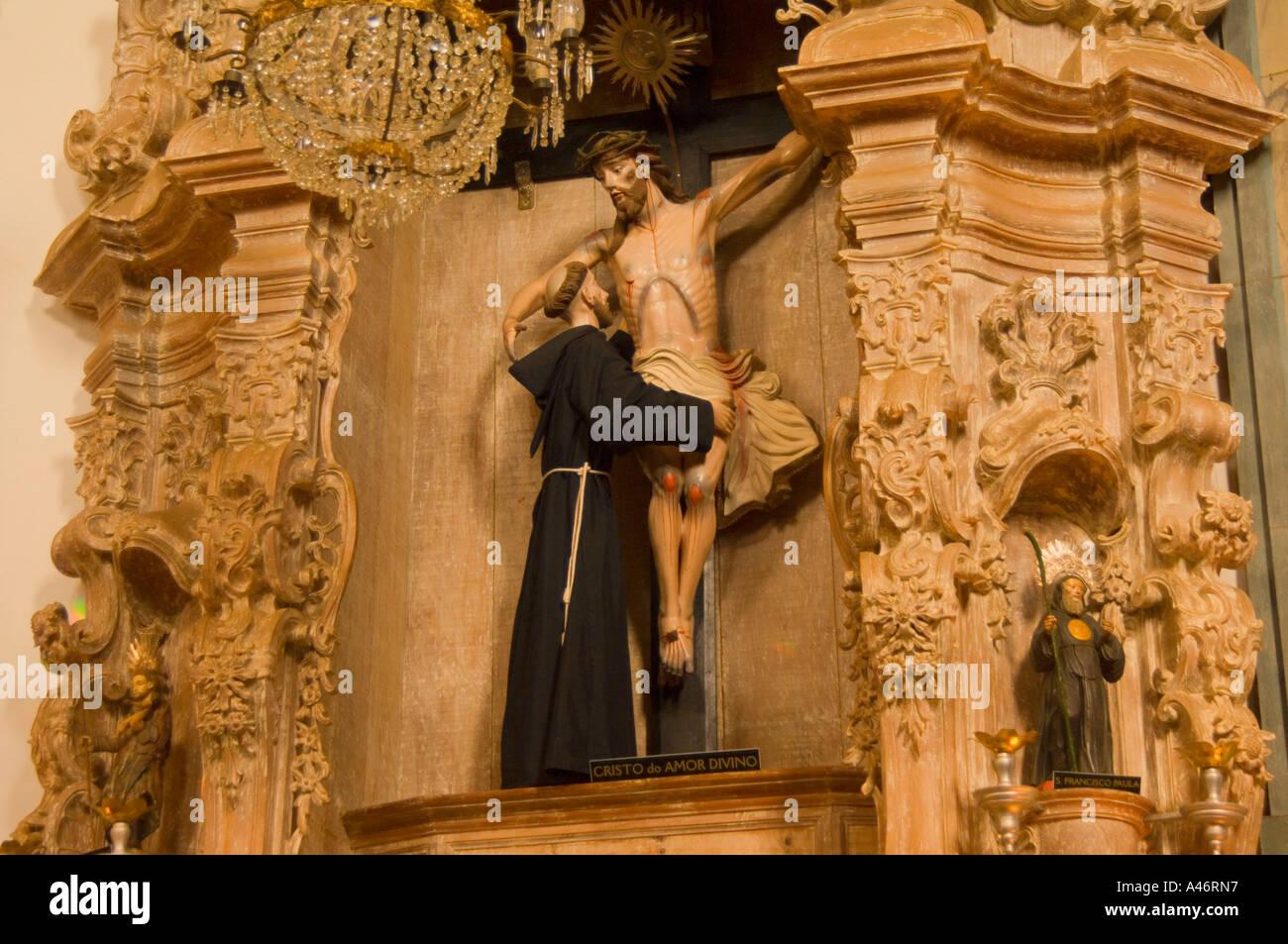 Statue Cristo do Amor Divino Sao Joao del Rey - Stock Image