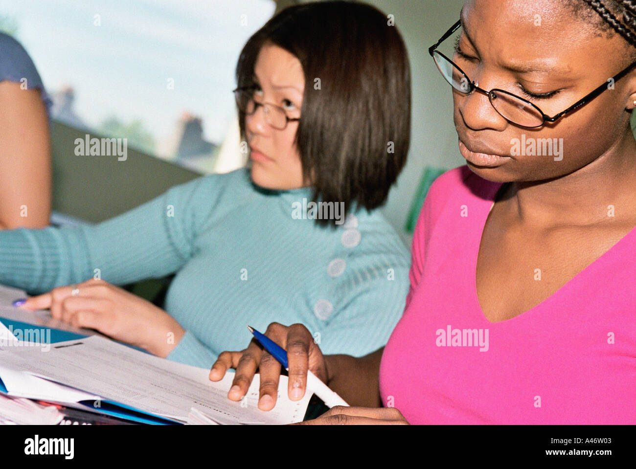 Higher education student - Stock Image