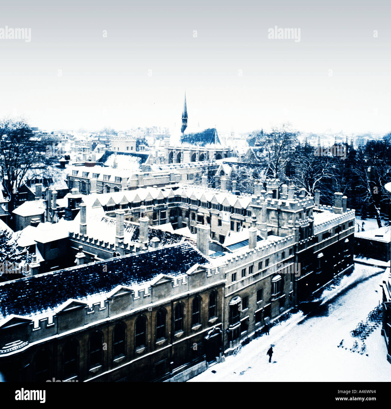 Oxford, England in the snow - Stock Image