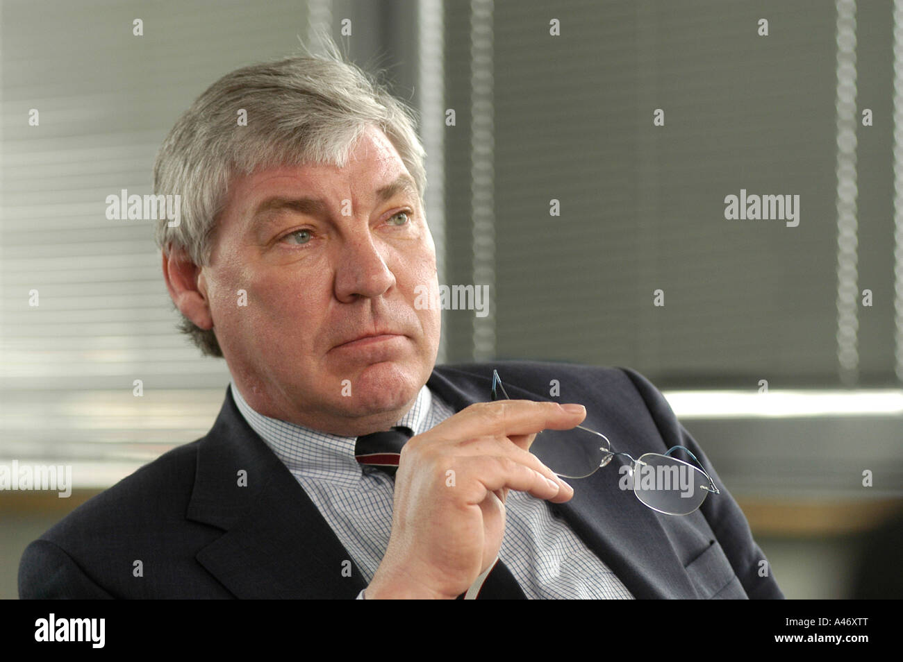 Michael Sommer, Chairman of the German Federation of Trade Unions DGB - Stock Image