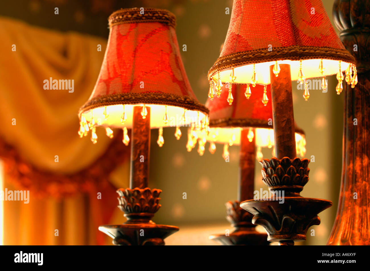 Victorian lamps - Stock Image