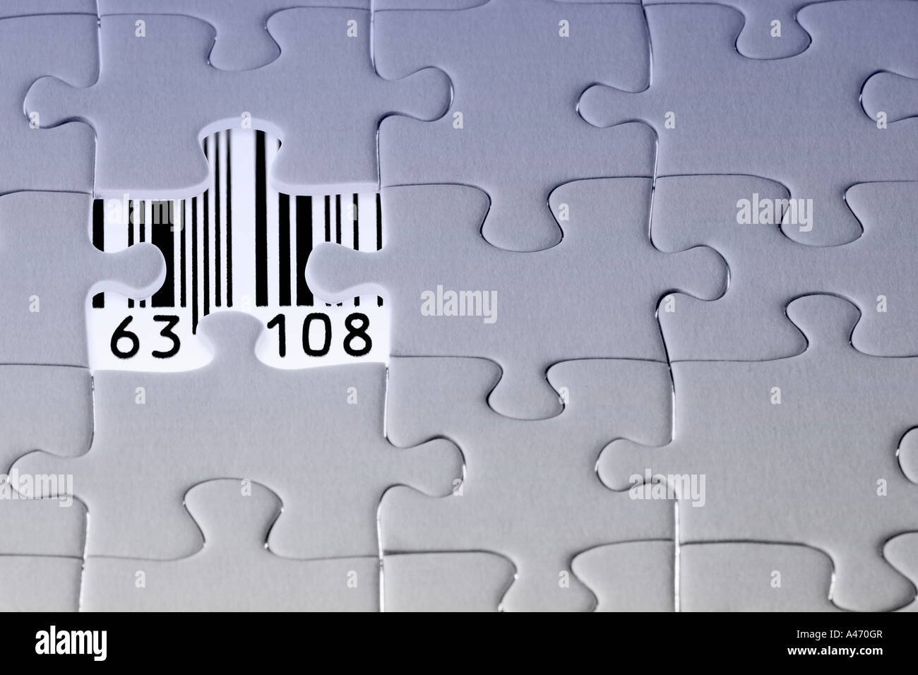 Jigsaw Puzzle The Last Missing Piece Revealing A Barcode With Numbers