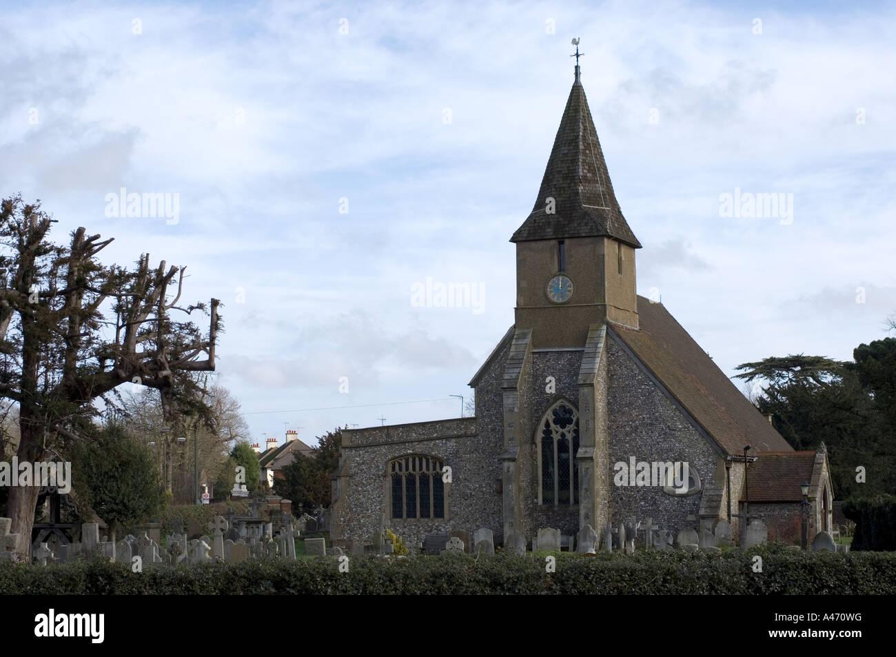 All Saints Church Sanderstead - 1 - Stock Image