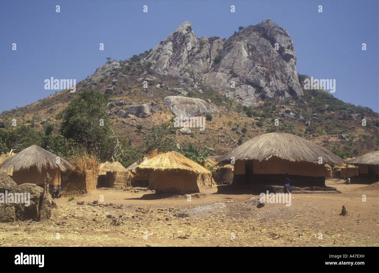 Traditional Village Near Nkhoma Malawi With Mud And Wattle
