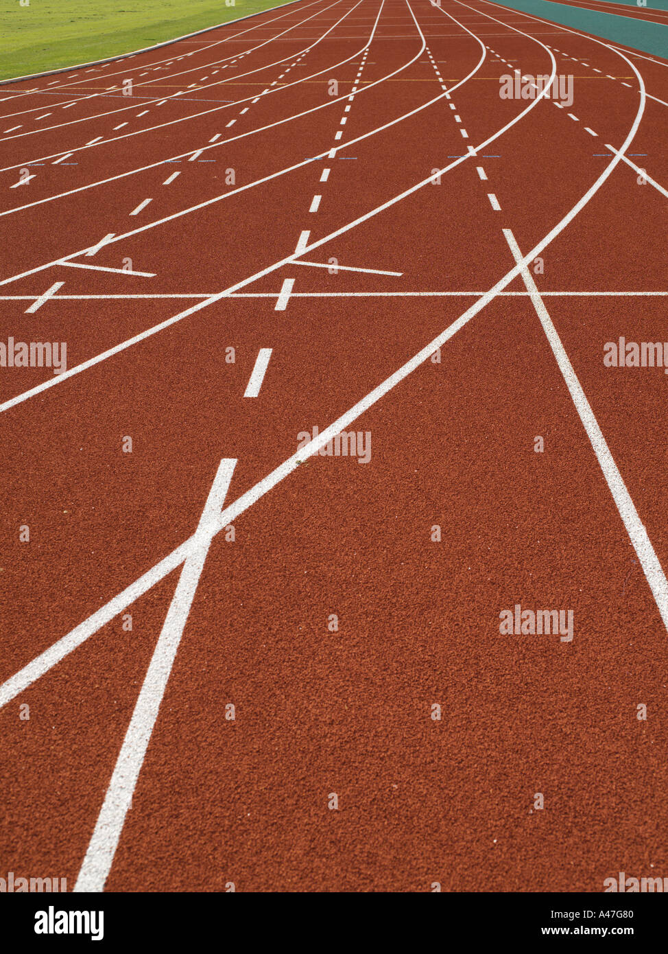 Empty race track - Stock Image