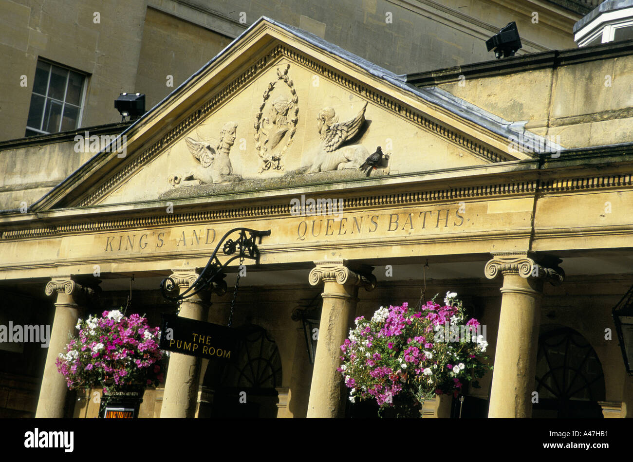 The  front of the Pump room Bath - Stock Image