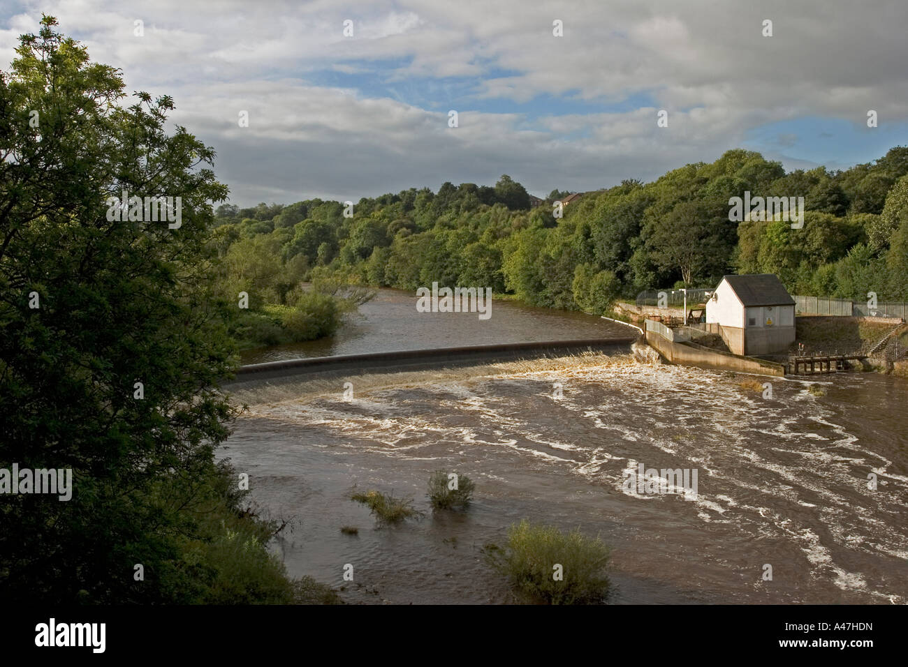 Weir And Turbine House Of Blantyre Hydro Electric Power