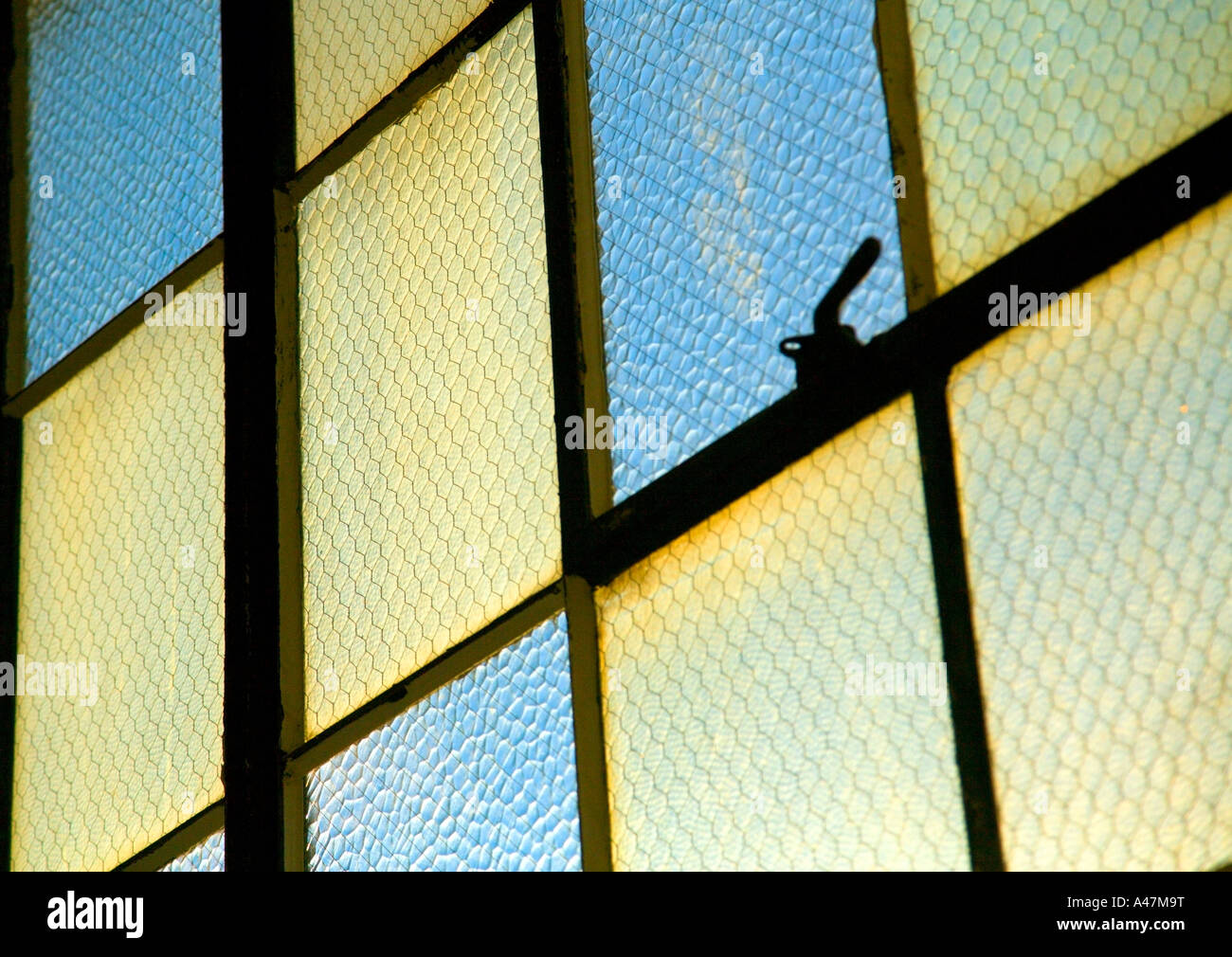 Closeup of reinforced windows - Stock Image
