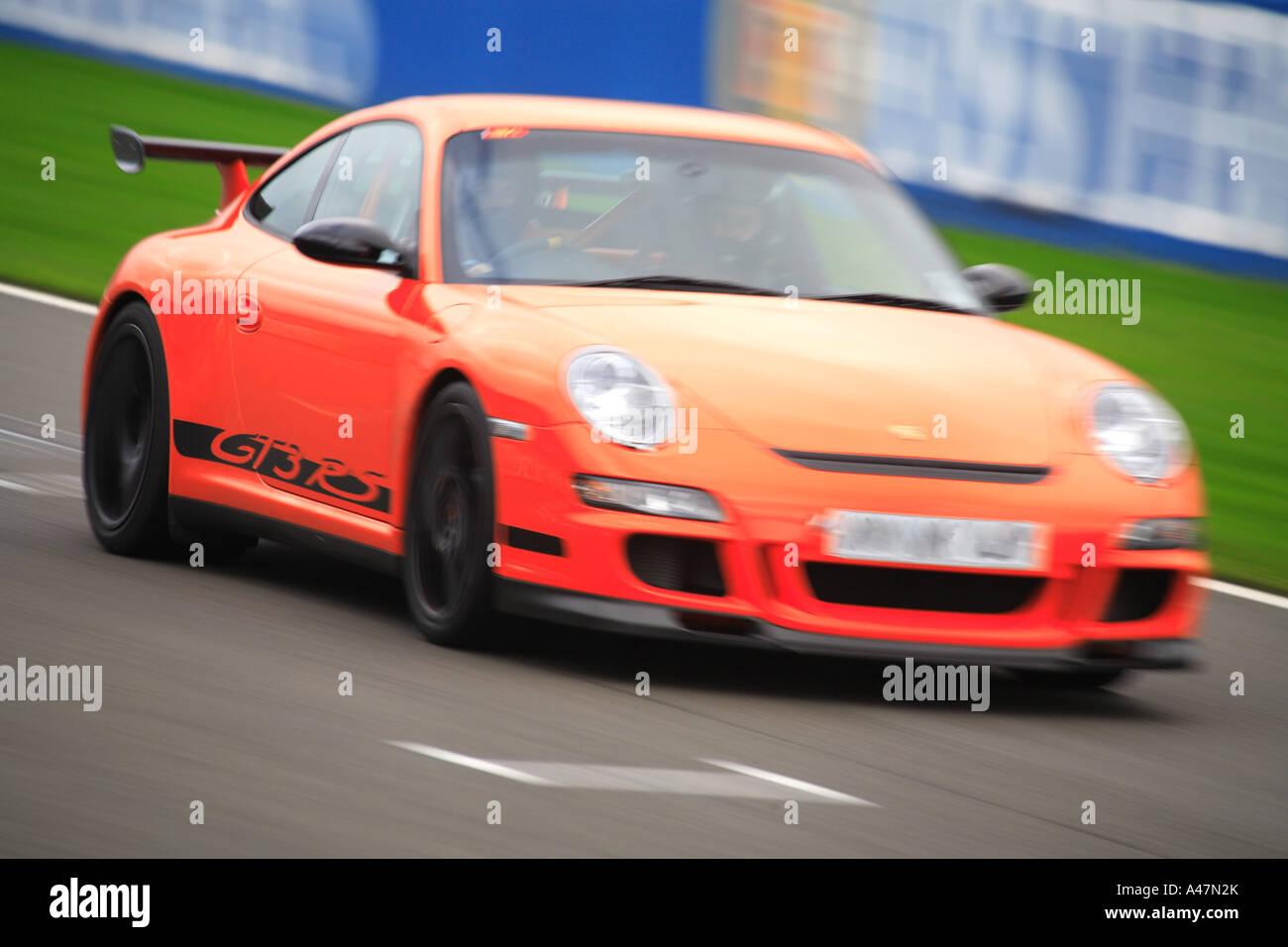 Porsche GT3 RS track race car orange fast speed motor sport racing ...
