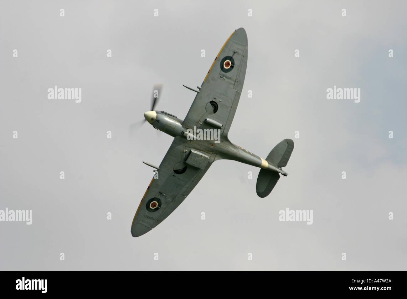 Supermarine Spitfire at Shuttleworth Air Display Old Warden Bedfordshire England - Stock Image