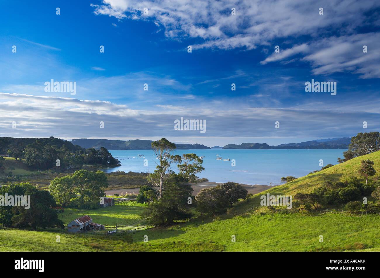 Te Kouma overlooking Coromandel Harbour Coromandel Peninsula North Island New Zealand NR - Stock Image