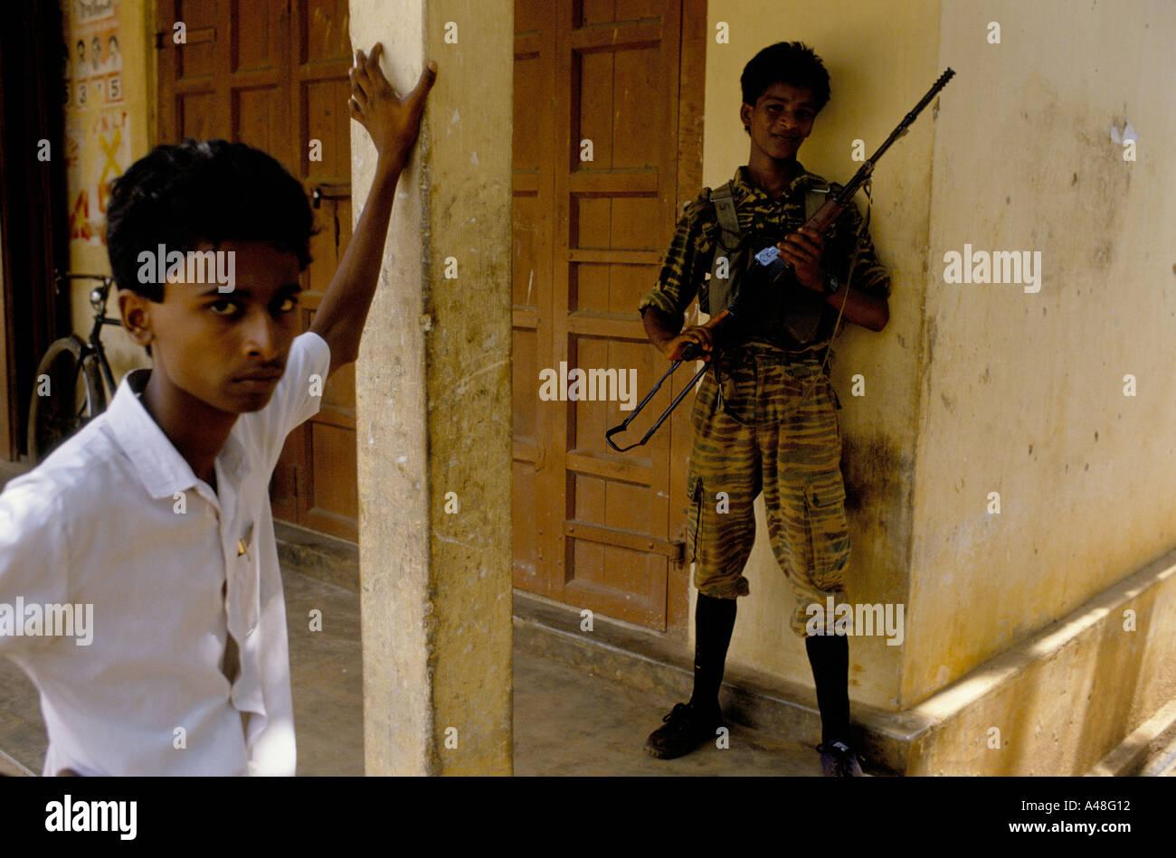 A 12 year old tamil tiger fighter  Jaffna Sri Lanka - Stock Image