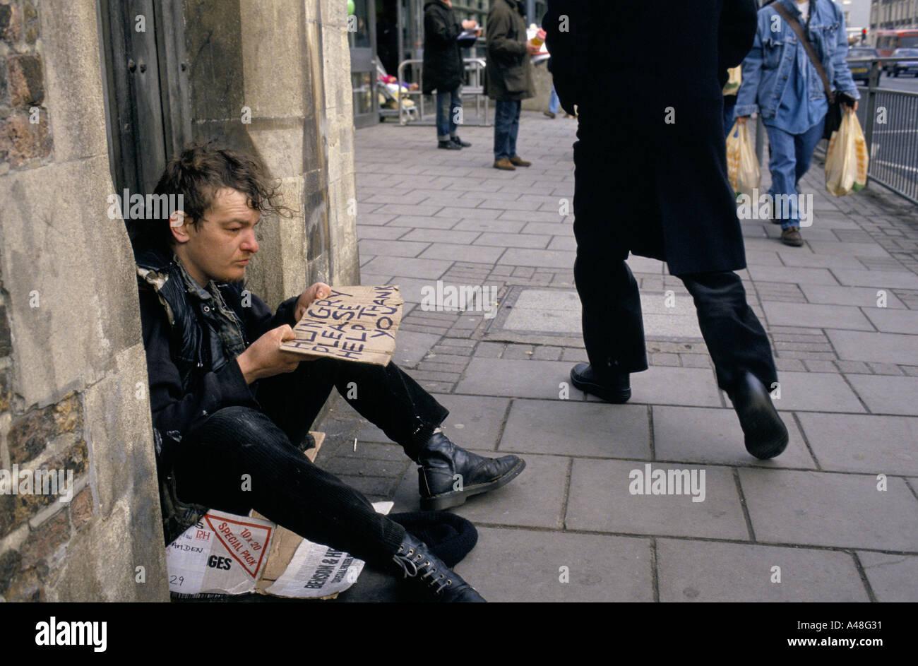 Homeless person beggin...