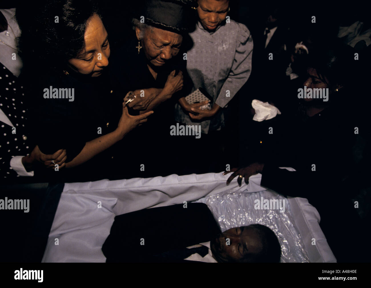 haiti the funeral of a man who was the victim of a political assasination - Stock Image